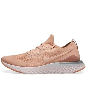 the best attitude temperament shoes low price sale Rare NIKE EPIC REACT FLYKNIT 2 in ROSE GOLD